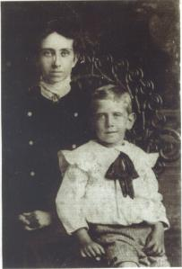 Grandma Ella Gertrude Lakey and son Guy Daniel Parson.